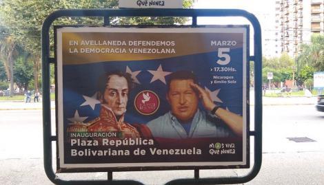 """Avellaneda inaugurará la plaza """"República de Venezuela"""" en apoyo a Nicolás Maduro"""