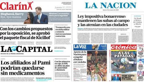La aprobación del paquete fiscal de Axel Kicillof, en las tapas de los diarios argentinos